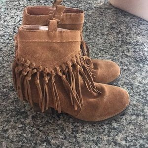 Shoes - Sbicca fringe booties